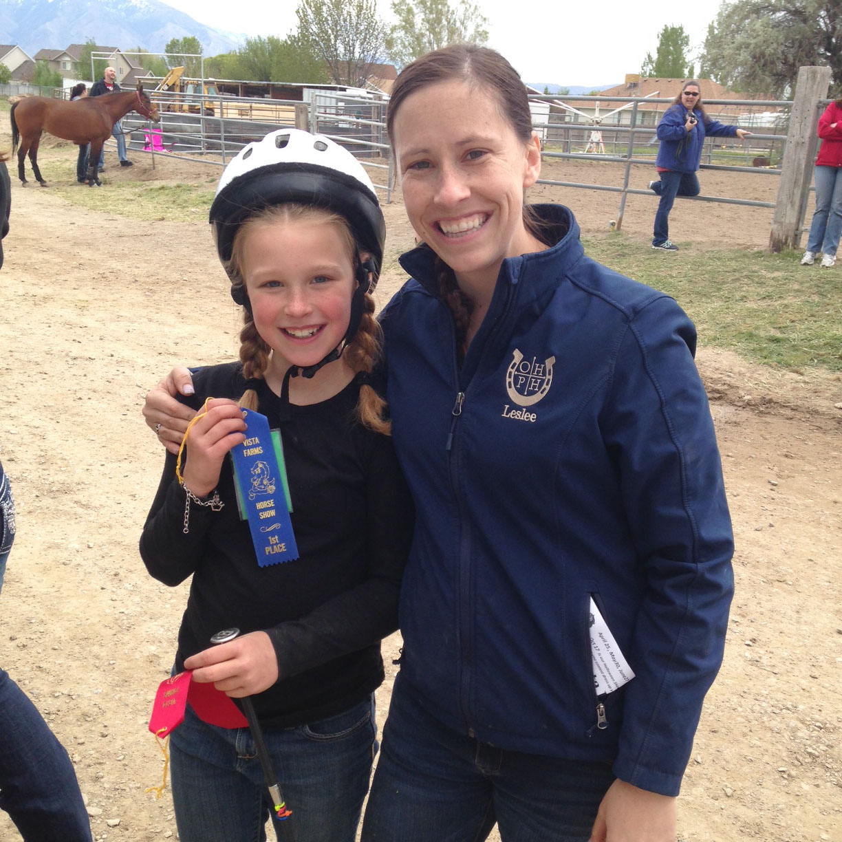 First place at her first horse show!