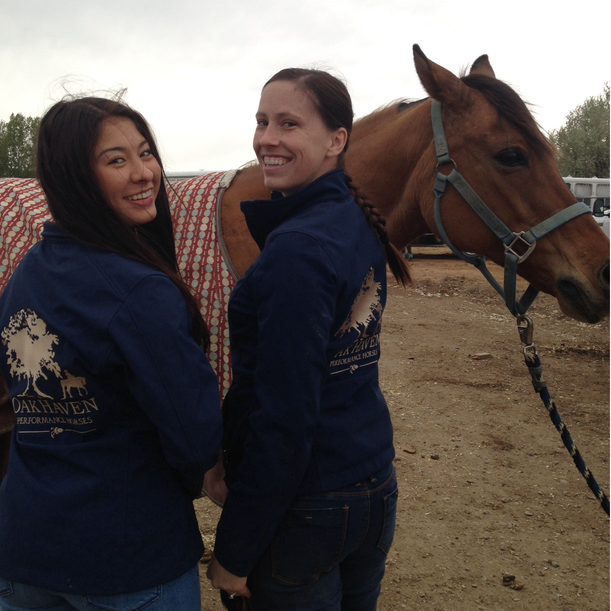 Showing off our custom embroidered OHPH jackets!