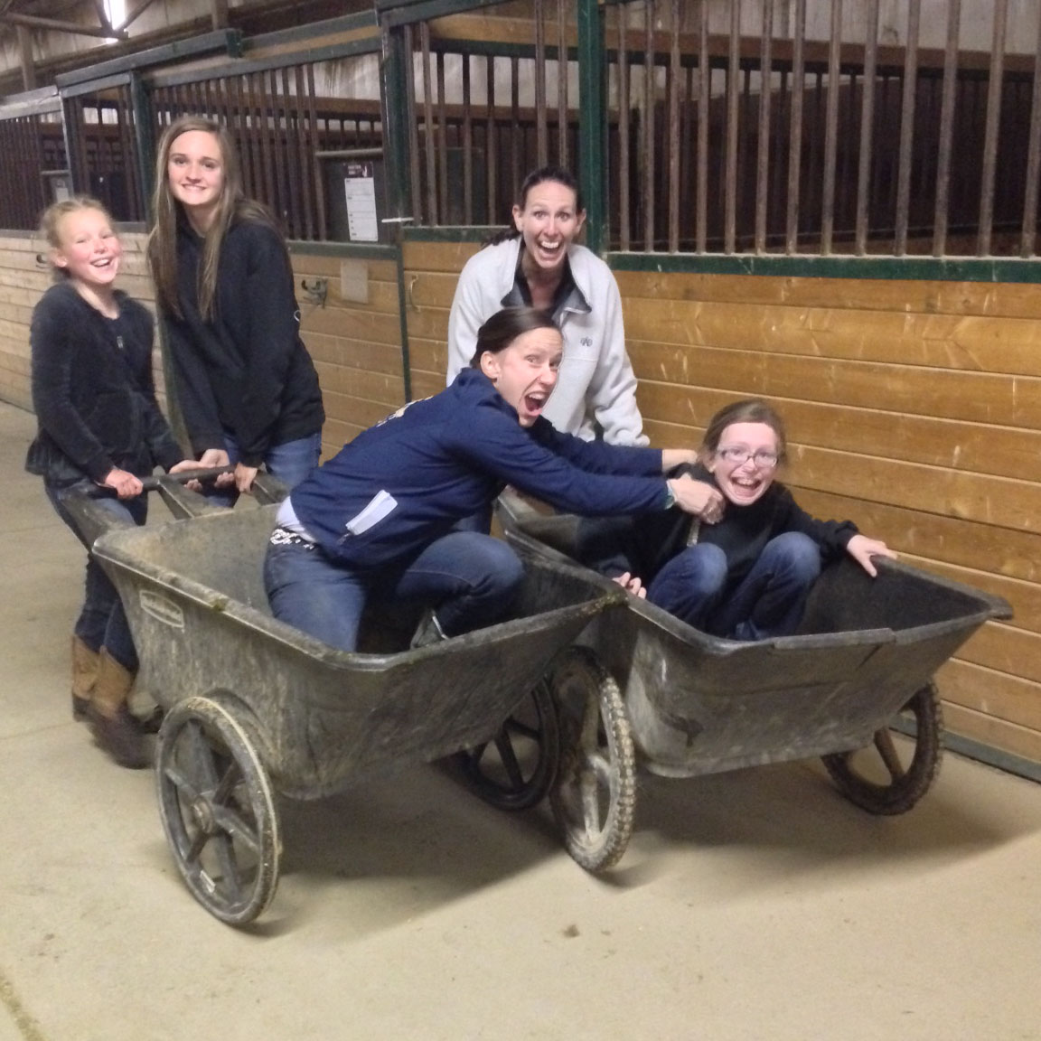 Finished the day up with a wheelbarrow race :-D